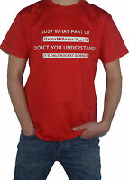 NEW It`s Only Rocket Science Equation T-Shirt - Aerospace Spacecraft Space Maths
