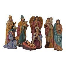 Large 8 Piece Traditional Design Christmas Nativity Set