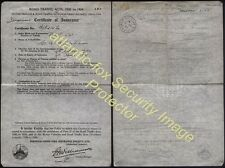 WWII 1941 Motor Insurance for BVF 521 Post Office Issue AYLSHAM/NORWICH CDS