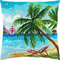 "Needlepoint//Tapestry Pillow Cover DIY Kit /""Pigeons/"""