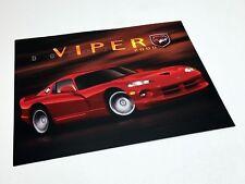 2000 Dodge Viper Information Sheet Brochure