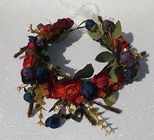 Hair Flower Garlands Wreath Crown Floral Festival Hippy Hipster Bridal Boho Faux