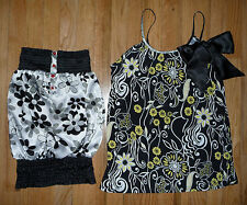 Lot Rampage Charlotte Russe print strapless & strappy blouses summer tops Size S