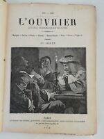 N8 Ancien Journal hebdo Illustré L'ouvrier 1887-1888 27eme Année Paris Bleriot