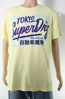 Superdry Mens T-Shirt Classic Pastel Yellow Size XL Graphic Logo Tee $29 #499