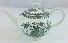 BURLEIGH - Asiatic Pheasant Tea Pot - Black and White - Stamped - RARE