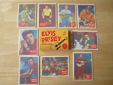 1956 Elvis Presley (9) Bubble Gum Cards and Box, Reproduction