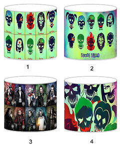 Suicide Squad Lampshade Ideal To Match Bedding Duvets Curtains Cushion Covers