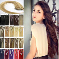 EXTENSIONS CHEVEUX A CLIPS 100% NATURELS INDIAN REMY HAIR 40-55CM 7bandes70G 7A
