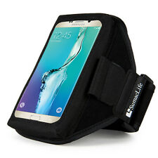 Black Sumaclife Gym Sport Armband Case for iPhone X/ 8 Plus / LG V35 / HTC U12+