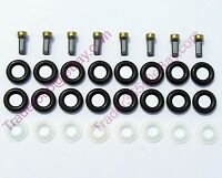 Ford 8 CYL Fuel Injector Service Repair kit O'rings Pintle Caps Filters EV6