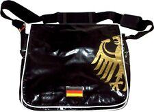 Stabile Umhängetasche / Laptop-Tasche im Deutschland-Design (schwarz)