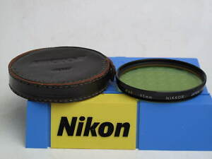 """Nikon Nikkor 95mm Y48 Yellow filter with leather case, US SELLER, """"LQQK"""""""