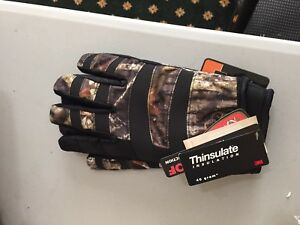 CAMO GLOVES Hot Shot COPPERHEAD Thinsulate X LARGE or MD or LG  you choose