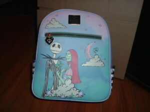 BIOWORLD NIGHTMARE BEFORE CHRISTMAS JACK AND SALLY MINI BACKPACK~ TAGS~ NEW~