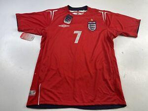 NWT England Soccer National Team David Beckham #7 Away Jersey Umbro Men's Medium