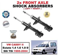 2x FRONT SHOCK ABSORBERS for VW CADDY II Estate 1.4 1.6 1.9 D SDi TDi 1995-2004