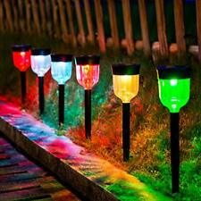LED Solar Light Outdoor,  6 Packs Solar Pathway Lights with 7 Color