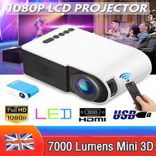 7000Lumens 1080P Mini LED 3D Projector USB Home Cinema Theater Video Multimedia