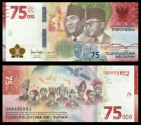 INDONESIA 75000 75,000 RUPIAH 2020 COMMEMORATIVE 75TH ANNIVERSARY NEW-UNC