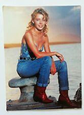 More details for rare original 1989 kylie minogue athena postcard - kylie 3 - unused vintage