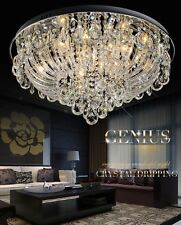 77381306 60CM Luxury Round Living Dining Room Hall Ceiling Light Crystal Glass