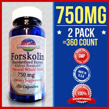 2 Pack Extreme Pure FORSKOLIN 750mg Coleus Forskohlii Weight Loss =360Caps Herb