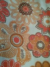 Vintage~ pair of 70's era flowery drapes~ fabulous!
