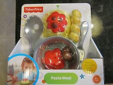 Fisher Price Servin Surprises Pasta Meal Spaghetti Dinner Bread sticks scoop NEW