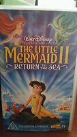Disney's The Little Mermaid II Return To The Sea  VHS VIDEO - FAST POST *