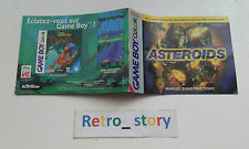 Nintendo Game Boy Color Asteroids Notice / Instruction Manual