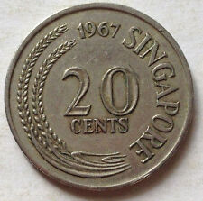 Singapore 1st Series 20 cents coin 1967