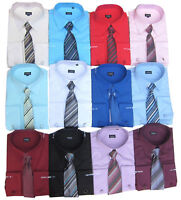 Mens Shirt Tie With Cufflinks by Samli Long Sleeved S,M,L,XL,XXL,3XL,4XL,5XL