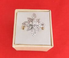 10ct Yellow & White Gold Diamond Cluster Ring With Valuation Certificate $2,850.