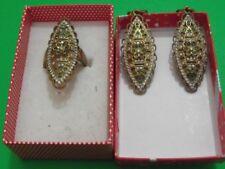 Sterling silver jewelry set lot ring earrings  gem Turkey Classic GIFT (KL)