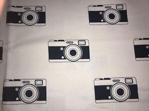 FQ Bouzoku Cotton Duck Fabric Retro Camera