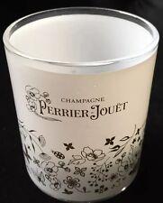PERRIER JOUET CHAMPAGNE  GLASS TEALIGHT HOLDER BOUGIE WINDLICHT NEW GOLD DESIGN