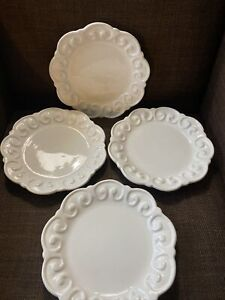 Paola Navone Crate & Barrel Riviera Salad Plates Portugal Set Of 4