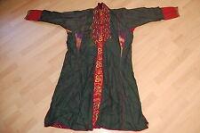 Alter Hochzeits Mantel  grün Seide IKAT Turkmenistan Tracht Volklore  coat