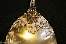 Antique 1800s Gorham Large Sterling Silver Enamel Berry Service Spoon Rathbone