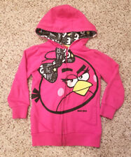 4T Girls Angry Birds Pink Hooded Full Zip Jacket with Pockets