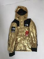 Supreme x TNF North Face Mountain Parka Metallic Gold Jacket Coat Large BNWT