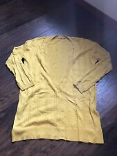 Rubbish Mustard Yellow Long Button Cardigan Size Medium