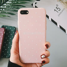 Candy Color Silicone Polka Dot Phone Case Soft TPU Cover For iPhone 5 6S 7 7Plus