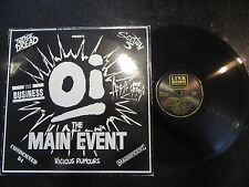 OI! THE MAIN EVENT RARE 1988 LP JUDGE DREAD SECTION 5 ANGELIC UPSTARTS OI SKA