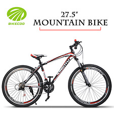 """27.5"""" 21 Speed Mountain Bike Bicycle Shimano MTB Front Suspension Red"""