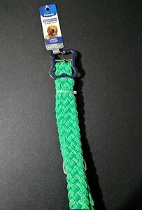 Petmate Fashion braided nylon large breed green dog collar NEW
