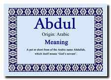 Abdul Personalised Name Meaning Jumbo Magnet