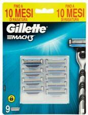 Gillette Mach3 Lame di ricambio per rasoio 9 pezzi. Originale. Nuove