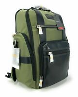 Tumi Sheppard Deluxe Laptop Brief Pack Tundra Green Alpha Bravo Backpack